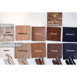 Makeup Tasche -Vögel Weiß/Nachtblau/Braun-