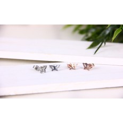 Edelstahl Ohrstecker -Schmetterling *1-