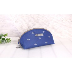 Makeup Tasche -Papierboot Weiß/Meeresblau/Hellbraun-