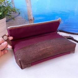 Foldover Tasche -Anker Weiß/Nachtblau/Braun-