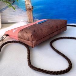 2 in 1 Tasche -Vögel Weiß/Nachtblau/Braun-
